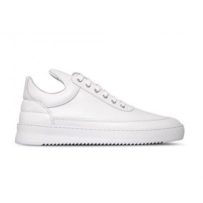 LOW TOP RIPPLE LANE NAPPA ALL WHITE